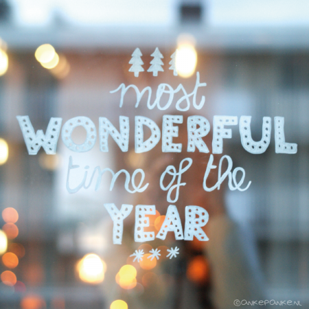 Most wonderful time of the year quote raamtekening