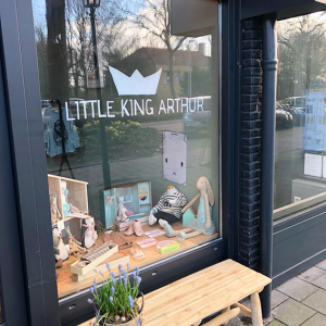 Logo raamtekening Little King Arthur
