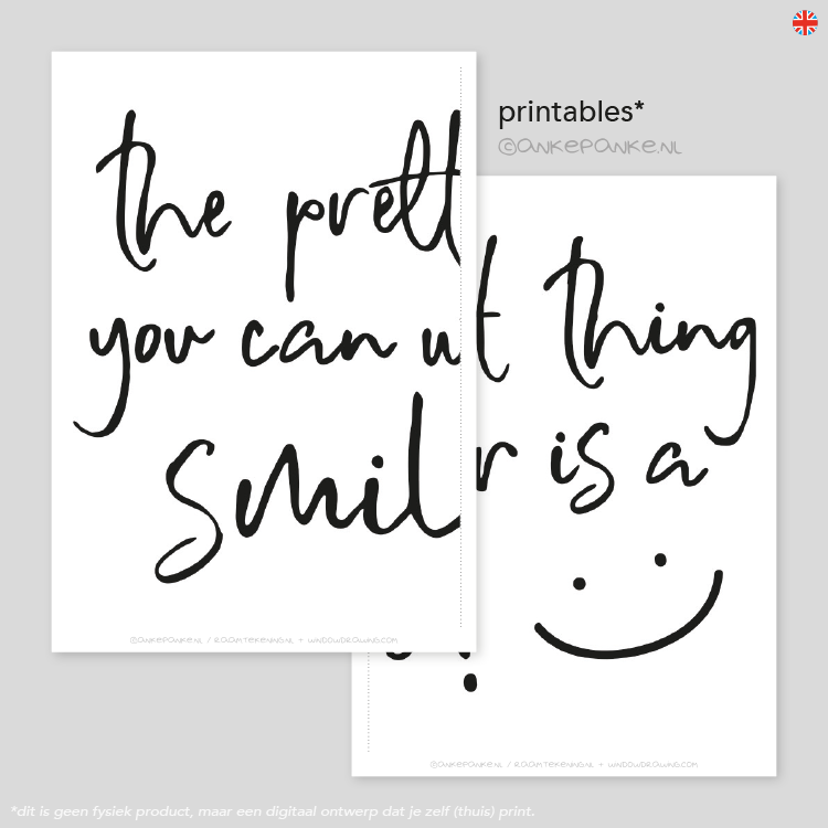 the prettiest thing you can wear is a smile quote freebie