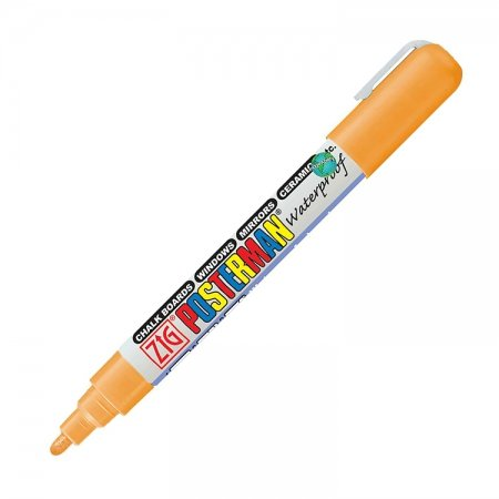 Oranje waterproof krijtstift 2 mm
