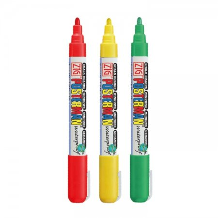 Carnaval waterproof krijtstift set 2 mm