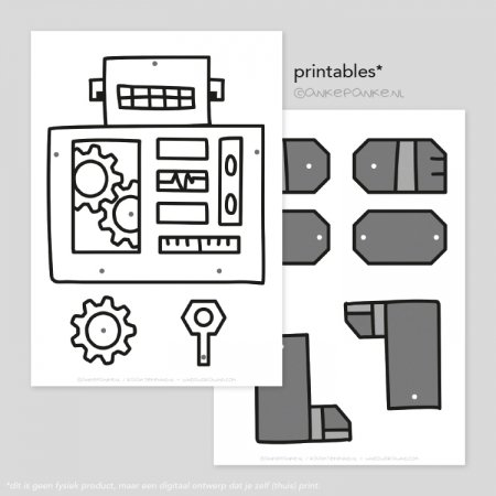 Robot printable splitpen pop