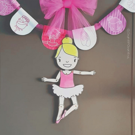 Ballerina printable splitpen pop