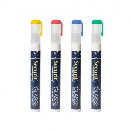Securit basis 2-6 mm waterproof krijtstift set