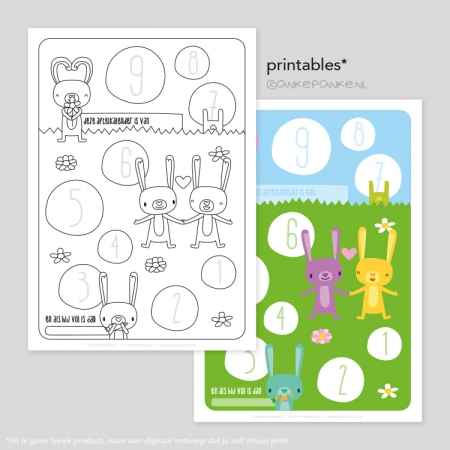 K'nientjes freebie printable aftelkalender