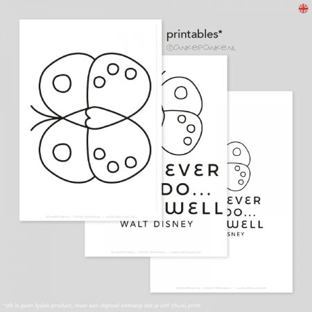 Whatever you do, do it well freebie quote raamtekening