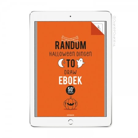 Random halloween dingen to Draw eboek/printable