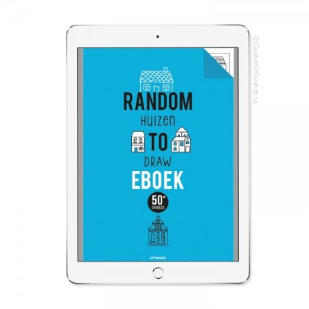 Random huizen to Draw eboek/printable