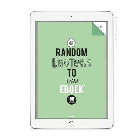Random letters to Draw 2 eboek/printable