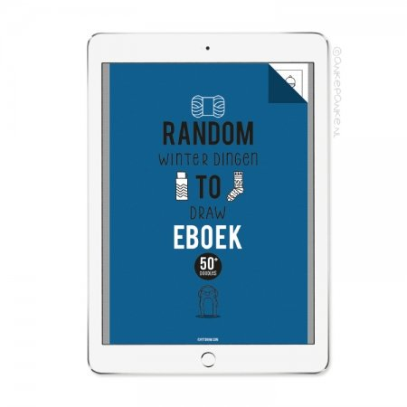 Random winter dingen to Draw eboek/printable