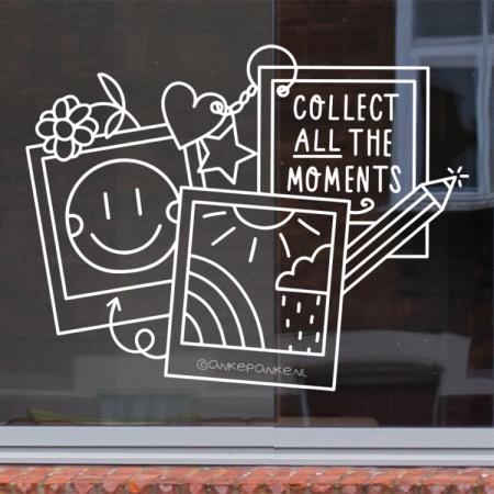 Collect ALL moments quote raamtekening